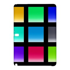 Colorful Background Squares Samsung Galaxy Tab Pro 10.1 Hardshell Case