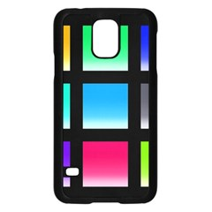 Colorful Background Squares Samsung Galaxy S5 Case (Black)