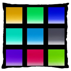Colorful Background Squares Large Flano Cushion Case (two Sides)