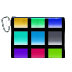 Colorful Background Squares Canvas Cosmetic Bag (XL)