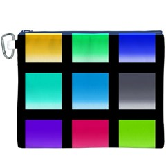 Colorful Background Squares Canvas Cosmetic Bag (XXXL)