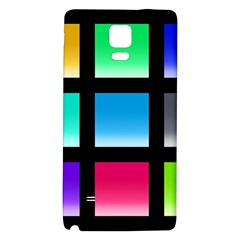 Colorful Background Squares Galaxy Note 4 Back Case