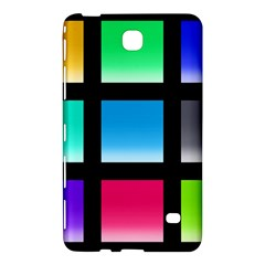 Colorful Background Squares Samsung Galaxy Tab 4 (7 ) Hardshell Case