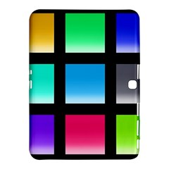 Colorful Background Squares Samsung Galaxy Tab 4 (10.1 ) Hardshell Case
