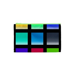 Colorful Background Squares Cosmetic Bag (XS)