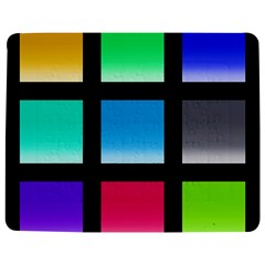 Colorful Background Squares Jigsaw Puzzle Photo Stand (rectangular)