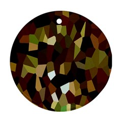 Crystallize Background Ornament (Round)