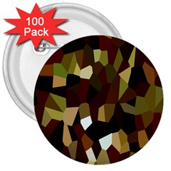 Crystallize Background 3  Buttons (100 pack)