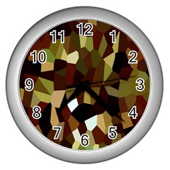 Crystallize Background Wall Clocks (silver)