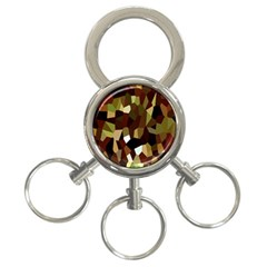 Crystallize Background 3-Ring Key Chains