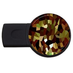Crystallize Background USB Flash Drive Round (1 GB)