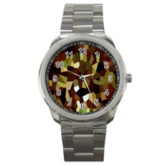 Crystallize Background Sport Metal Watch