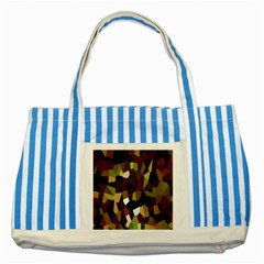 Crystallize Background Striped Blue Tote Bag