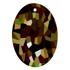 Crystallize Background Oval Ornament (two Sides)