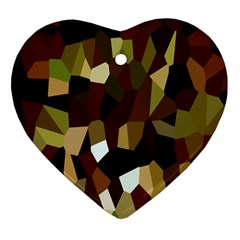 Crystallize Background Heart Ornament (Two Sides)