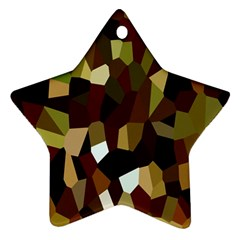 Crystallize Background Star Ornament (Two Sides)