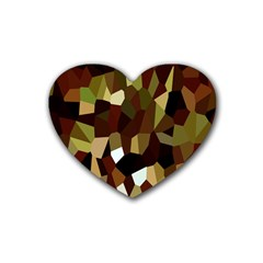 Crystallize Background Heart Coaster (4 pack)