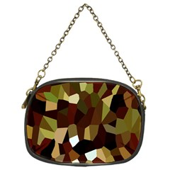 Crystallize Background Chain Purses (two Sides)
