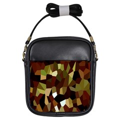 Crystallize Background Girls Sling Bags