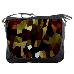Crystallize Background Messenger Bags