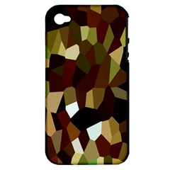 Crystallize Background Apple iPhone 4/4S Hardshell Case (PC+Silicone)