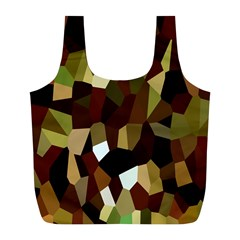 Crystallize Background Full Print Recycle Bags (L)
