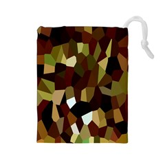 Crystallize Background Drawstring Pouches (Large)