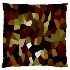 Crystallize Background Large Flano Cushion Case (One Side)