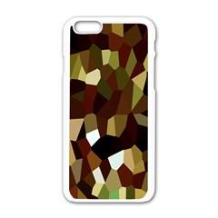 Crystallize Background Apple iPhone 6/6S White Enamel Case