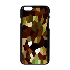 Crystallize Background Apple Iphone 6/6s Black Enamel Case