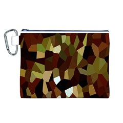 Crystallize Background Canvas Cosmetic Bag (l)