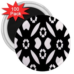 Abstract Background Pattern 3  Magnets (100 Pack)