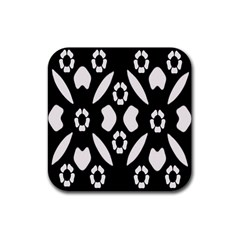 Abstract Background Pattern Rubber Coaster (square)