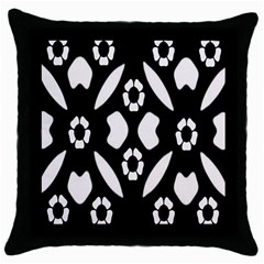 Abstract Background Pattern Throw Pillow Case (Black)