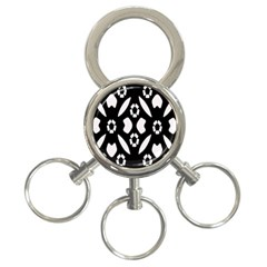 Abstract Background Pattern 3-Ring Key Chains