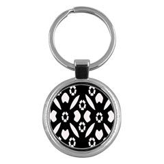Abstract Background Pattern Key Chains (Round)
