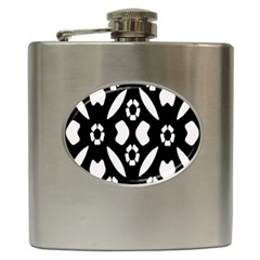 Abstract Background Pattern Hip Flask (6 oz)
