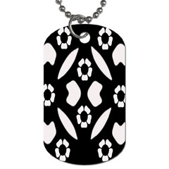 Abstract Background Pattern Dog Tag (Two Sides)