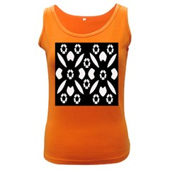 Abstract Background Pattern Women s Dark Tank Top