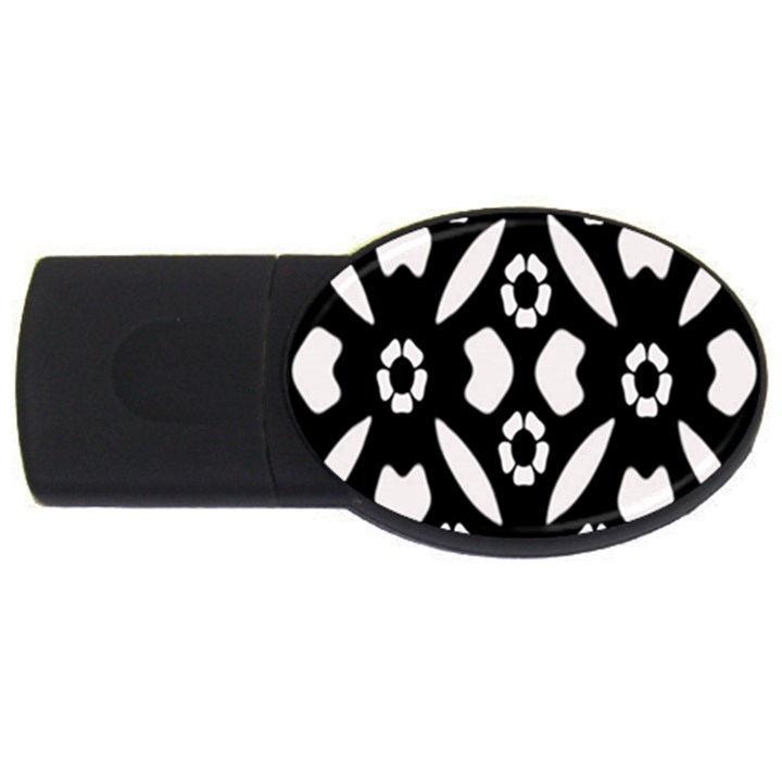 Abstract Background Pattern USB Flash Drive Oval (4 GB)