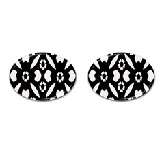 Abstract Background Pattern Cufflinks (oval)