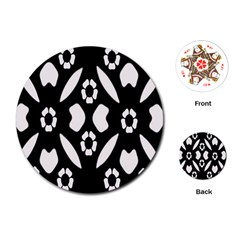 Abstract Background Pattern Playing Cards (round)