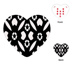 Abstract Background Pattern Playing Cards (Heart)