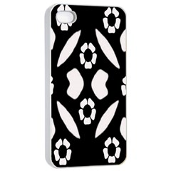 Abstract Background Pattern Apple iPhone 4/4s Seamless Case (White)