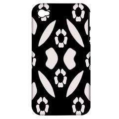 Abstract Background Pattern Apple iPhone 4/4S Hardshell Case (PC+Silicone)