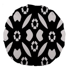 Abstract Background Pattern Large 18  Premium Round Cushions