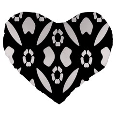 Abstract Background Pattern Large 19  Premium Heart Shape Cushions