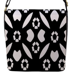 Abstract Background Pattern Flap Messenger Bag (S)