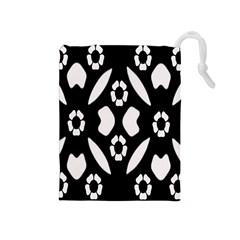 Abstract Background Pattern Drawstring Pouches (Medium)