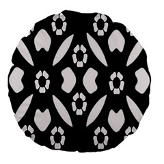 Abstract Background Pattern Large 18  Premium Flano Round Cushions